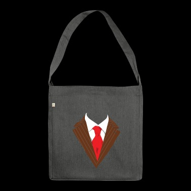 Suit suite Occasion dressed formally elegant - Shoulder Bag made from recycled material
