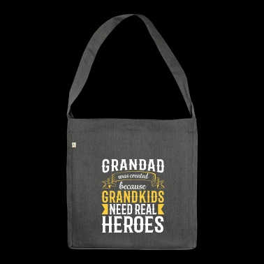Gift Grandpa - Gift Grandad Shirt - Shoulder Bag made from recycled material