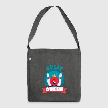 Split Queen Split Happens Bowling King T_Shirt - Shoulder Bag made from recycled material
