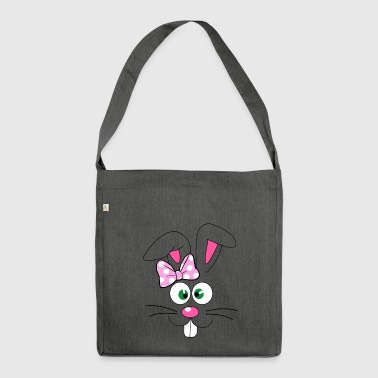 Easter Bunny Easter Bunny Face - Shoulder Bag made from recycled material