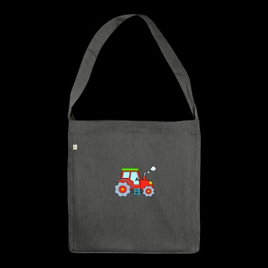 Tractor - Red Tractor - Tractor - Shoulder Bag made from recycled material