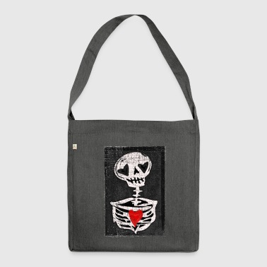 Love skeleton - Shoulder Bag made from recycled material