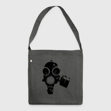Gas-mask1 - Schultertasche aus Recycling-Material