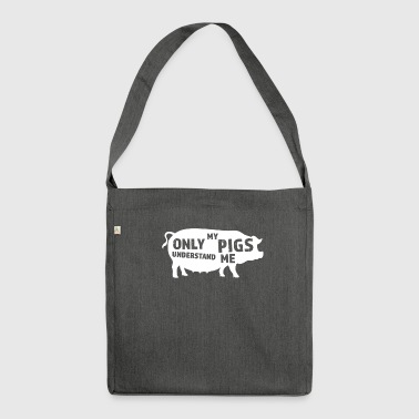 Funny Pigs Gift Idea - Shoulder Bag made from recycled material