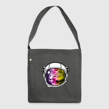 astro rainbow cat helmet nasa outer space stars brisk - Shoulder Bag made from recycled material