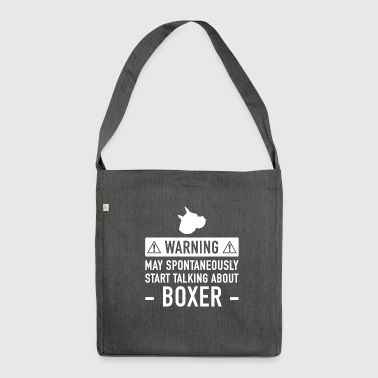 Lustige Boxer-Geschenk-Idee - Schultertasche aus Recycling-Material