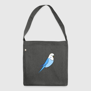 Budgie blue - Shoulder Bag made from recycled material
