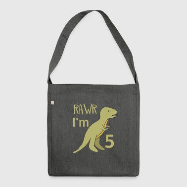 Tyrannosaurus Rex - Shoulder Bag made from recycled material
