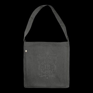 Wealth starts in the head - gray - Shoulder Bag made from recycled material