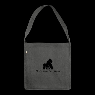 Safe gorillas - Shoulder Bag made from recycled material