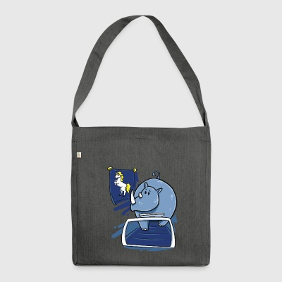 Rhino rhinoceros unicorn funny Christmas gift - Shoulder Bag made from recycled material