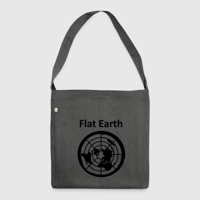 Flat Earth 2 - Schultertasche aus Recycling-Material