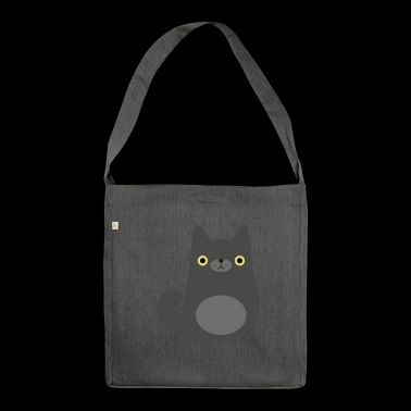Poor black cat - Shoulder Bag made from recycled material