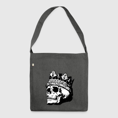 Skull with crown - Shoulder Bag made from recycled material