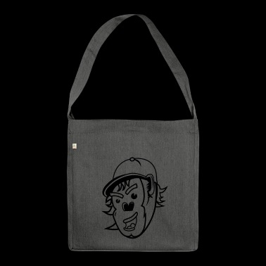 Cheeky Monkey Logo - Shoulder Bag made from recycled material