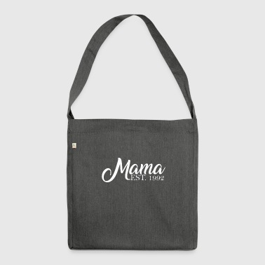 Mama established 1992 - Schultertasche aus Recycling-Material
