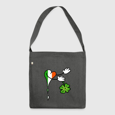 Heart Welcome Ireland Shamrock - Shoulder Bag made from recycled material