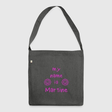 MARTINE MEIN NAME - Schultertasche aus Recycling-Material