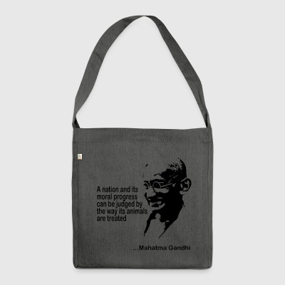 Gandhi Animal Rights - Schultertasche aus Recycling-Material