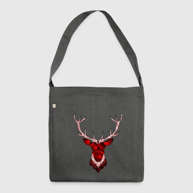 Cerf Hipster rouge - Sac bandoulière 100 % recyclé