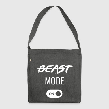Beast Mode ON - great gift idea for athletes - Shoulder Bag made from recycled material