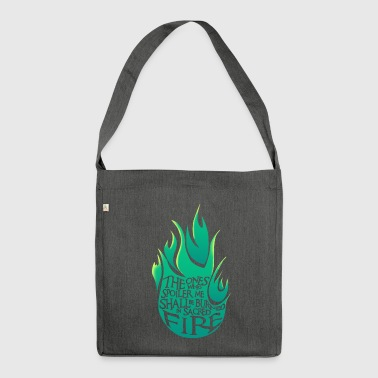 Heiliges Feuer - Green Version - Schultertasche aus Recycling-Material