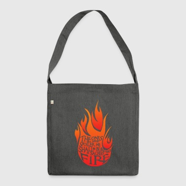 Heiliges Feuer Red Version - Schultertasche aus Recycling-Material