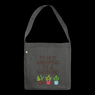 garden gardener garden flowers plants48 - Shoulder Bag made from recycled material