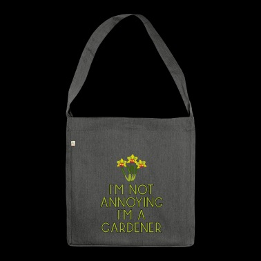 garden gardener garden flowers plants13 - Shoulder Bag made from recycled material
