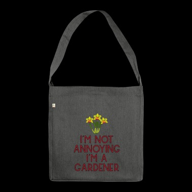 garden gardener garden flowers plants15 - Shoulder Bag made from recycled material