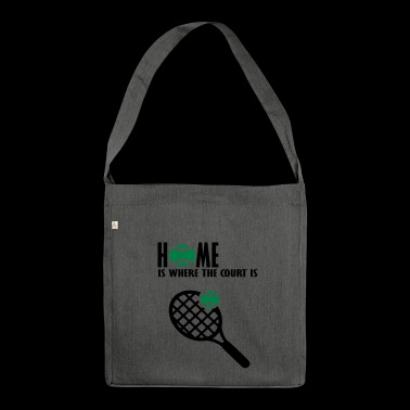 home is where the court is - Shoulder Bag made from recycled material