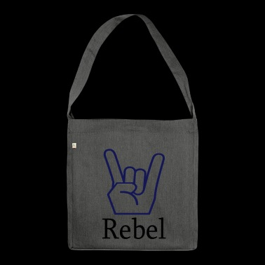 Rebel metal fist - Shoulder Bag made from recycled material