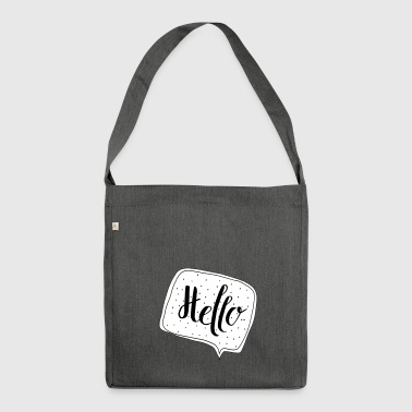 Hello Speech Bubble - Shoulder Bag made from recycled material