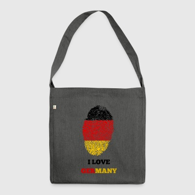 GERMANY GERMANY GERMANIA GIFT T-SHIRT - Shoulder Bag made from recycled material