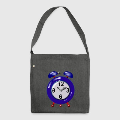 alarm clock - Shoulder Bag made from recycled material