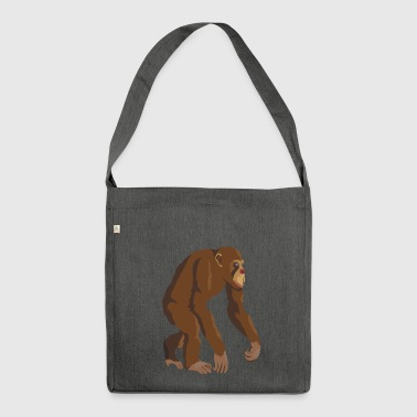 Chimpanzee - Shoulder Bag made from recycled material