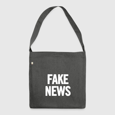 Fake News White - Shoulder Bag made from recycled material