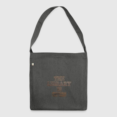 The Library Is Open Wood 2 - Shoulder Bag made from recycled material