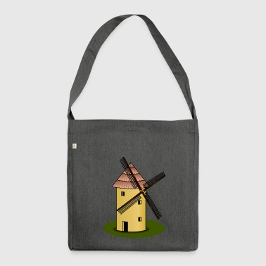 windmill windmill wind turbine windrad28 - Shoulder Bag made from recycled material