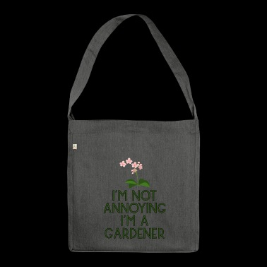 garden gardener garden flowers plants plants17 - Shoulder Bag made from recycled material