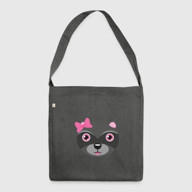 Raccoon family - daughter - Shoulder Bag made from recycled material