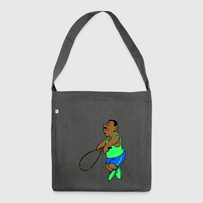 jumping jump rope skipping - Shoulder Bag made from recycled material