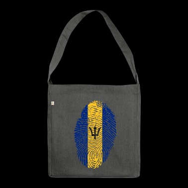 BARBADOS FINGERPRINT T-SHIRT. - Shoulder Bag made from recycled material