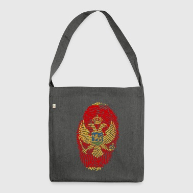 MONTENEGRO. FINGERABPRESSION BALKAN SERBIA GIFT - Shoulder Bag made from recycled material