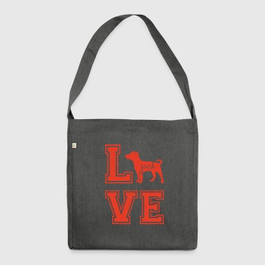 Dog / Jack Russell: Love Jack - Shoulder Bag made from recycled material