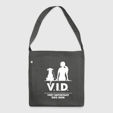 Very important Dog Mom - Schultertasche aus Recycling-Material