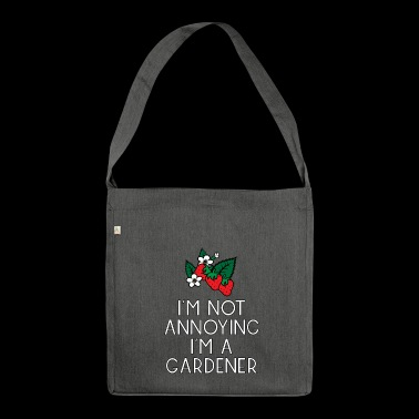 garden gardener garden flowers plants plants52 - Shoulder Bag made from recycled material