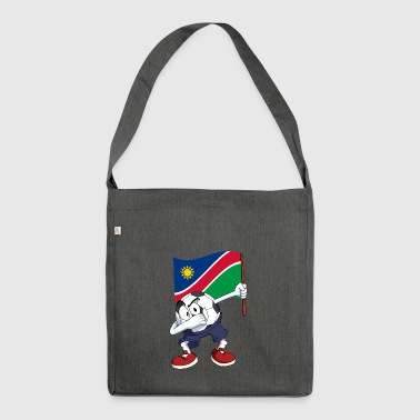 Namibia Dabbing Fussball - Schultertasche aus Recycling-Material