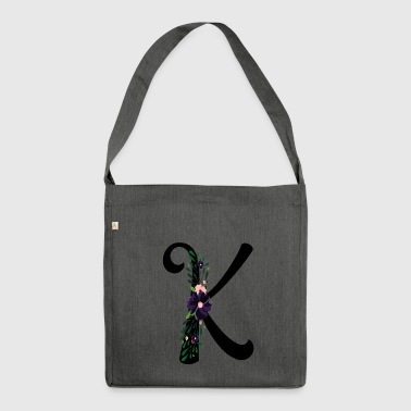 Letter K - Shoulder Bag made from recycled material