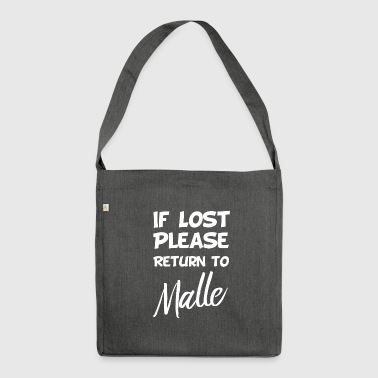 If lost - Malle - Shoulder Bag made from recycled material